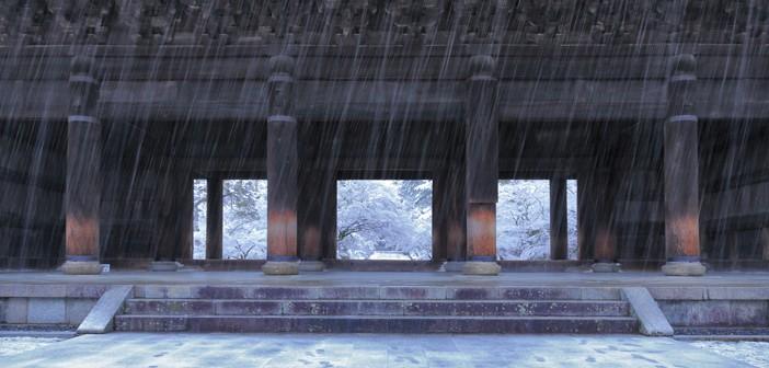 冬の南禅寺 山門 祭事記一二月